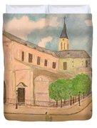 Utrillo And Church Seasonal Change In Paris By Japanese Artist Duvet Cover