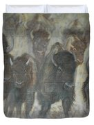 Uttc Buffalo Mural Center Panel Duvet Cover