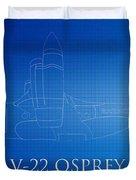 V-22 Osprey Blueprint Duvet Cover