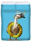 Vacation Time For Summer Goose Duvet Cover