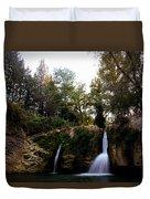 Val Rea Waterfalls Duvet Cover