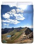 Valecito And Chicago Basins From Mt Jupiter - Weminuche Wilderness - Colorado Duvet Cover