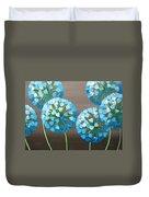 Valentine Alliums Duvet Cover