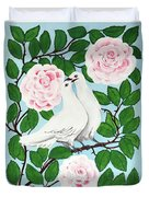 Valentine Doves Duvet Cover