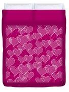 Valentine Hearts Pattern Duvet Cover