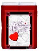 Valentine Script Duvet Cover