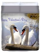 Valentine's Day Greeting Duvet Cover
