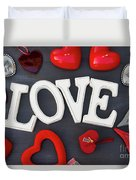 Valentines Day Hearts Duvet Cover