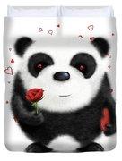 Valentine's Panda Duvet Cover