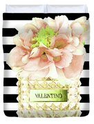 Valentino Perfume With Flower Duvet Cover
