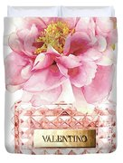 Valentino Pink With Peony Duvet Cover