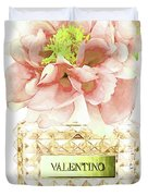 Valentino With Peony Duvet Cover