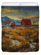 Valley Farm Sunset Duvet Cover
