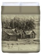Valley Forge Barracks In Sepia Duvet Cover