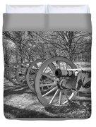 Valley Forge Battery Blackened White Duvet Cover