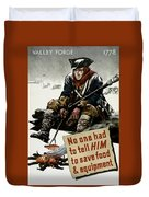 Valley Forge Soldier - Conservation Propaganda Duvet Cover
