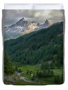 Valley In The French Alps Duvet Cover