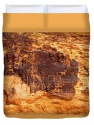Valley Of Fire Ancient Petroglyphs Duvet Cover