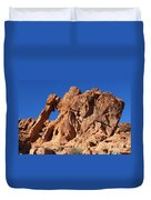 Valley Of Fire Elephant Rock Duvet Cover