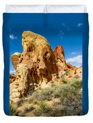 Valley Of Fire - Face In The Rock Duvet Cover