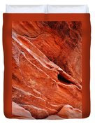 Valley Of Fire Mouse's Tank Sandstone Wall Portrait Duvet Cover