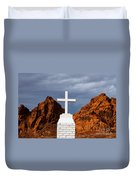 Valley Of Fire State Park Clark Memorial Duvet Cover