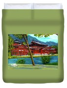 Valley Of The Temples Buddhist Temple #73 Duvet Cover