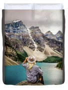 Valley Of The Ten Peaks Duvet Cover by Rod Sterling