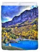 Valley Peak And Falls Duvet Cover