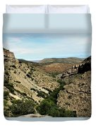 Valley View Of Whitesands Duvet Cover