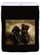 Van Gogh Boots 1886 Duvet Cover
