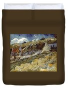 Van Gogh: Cottages, 1890 Duvet Cover