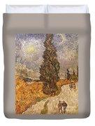 Van Gogh: Cypresses, 1889 Duvet Cover