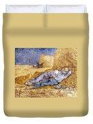 Van Gogh: Noon Nap, 1889-90 Duvet Cover