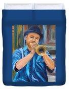 Van Gogh Plays The Trumpet Duvet Cover