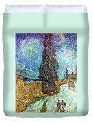 Van Gogh: Road, 1890 Duvet Cover