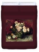 Van Gogh: Roses, 1886 Duvet Cover