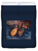 Van Gogh: The Shoes, 1887 Duvet Cover