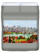 Vancouver After The Rain Duvet Cover