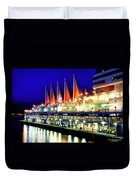 Vancouver At Night Duvet Cover