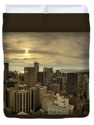 Vancouver Bc Cityscape During Sunset Duvet Cover