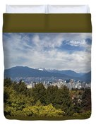Vancouver Bc Skyline Daytime View Duvet Cover