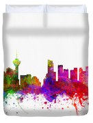 Vancouver British Columbia Skyline Color02 Duvet Cover