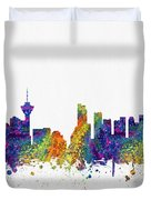 Vancouver British Columbia Skyline Color03 Duvet Cover