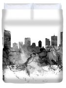Vancouver Canada Skyline Panoramic Duvet Cover