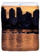 Vancouver From Stanley Park I Duvet Cover