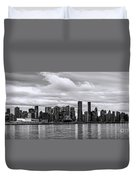 Vancouver In Black And White. Duvet Cover