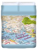 Vancouver Map Duvet Cover