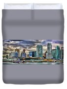 Vancouver Skyline Hdr Duvet Cover