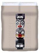 Vancouver Totem - 1 Duvet Cover